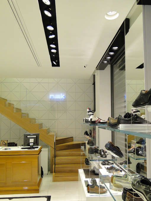 dbc2f63becd Nak | Shoes store design | Stadiou ave. | iidsk | Interior Design &  Construction